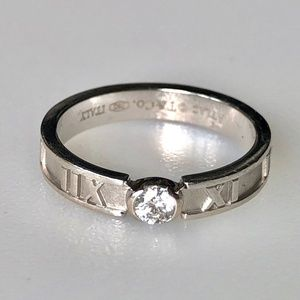 Tiffany & Co 18k Diamond Atlas Ring 3g